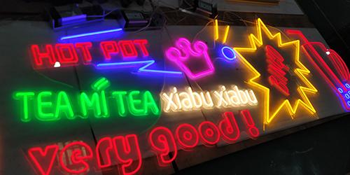 连锁餐饮店霓虹灯标识;室内霓虹灯;日合霓虹灯标识制作