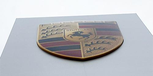 保时捷logo;汽车4S店logo;日合门头logo制作