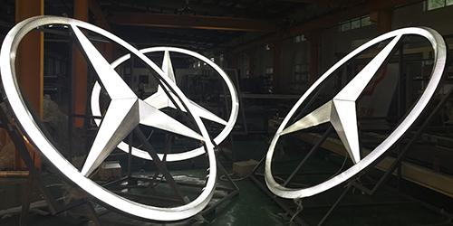 奔驰logo;车标logo;日合门头logo制作