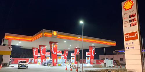 壳牌加油站品牌柱;10米加油站立柱;日合广告牌制作