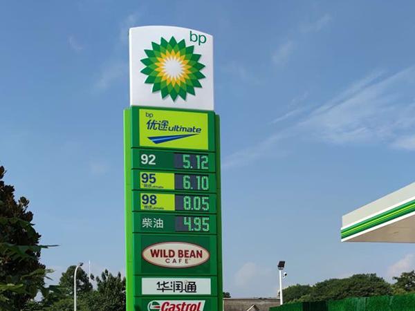 BP加油站品牌柱